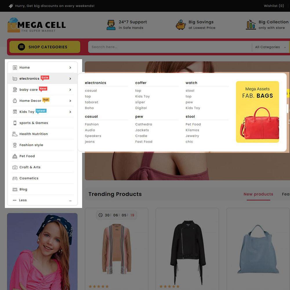 theme - Электроника и компьютеры - Mega Cell - Super Market Shop - 18