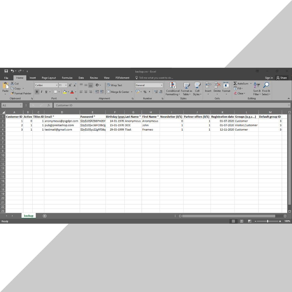 module - Data migration & Backup - Customer Data Backup - 2