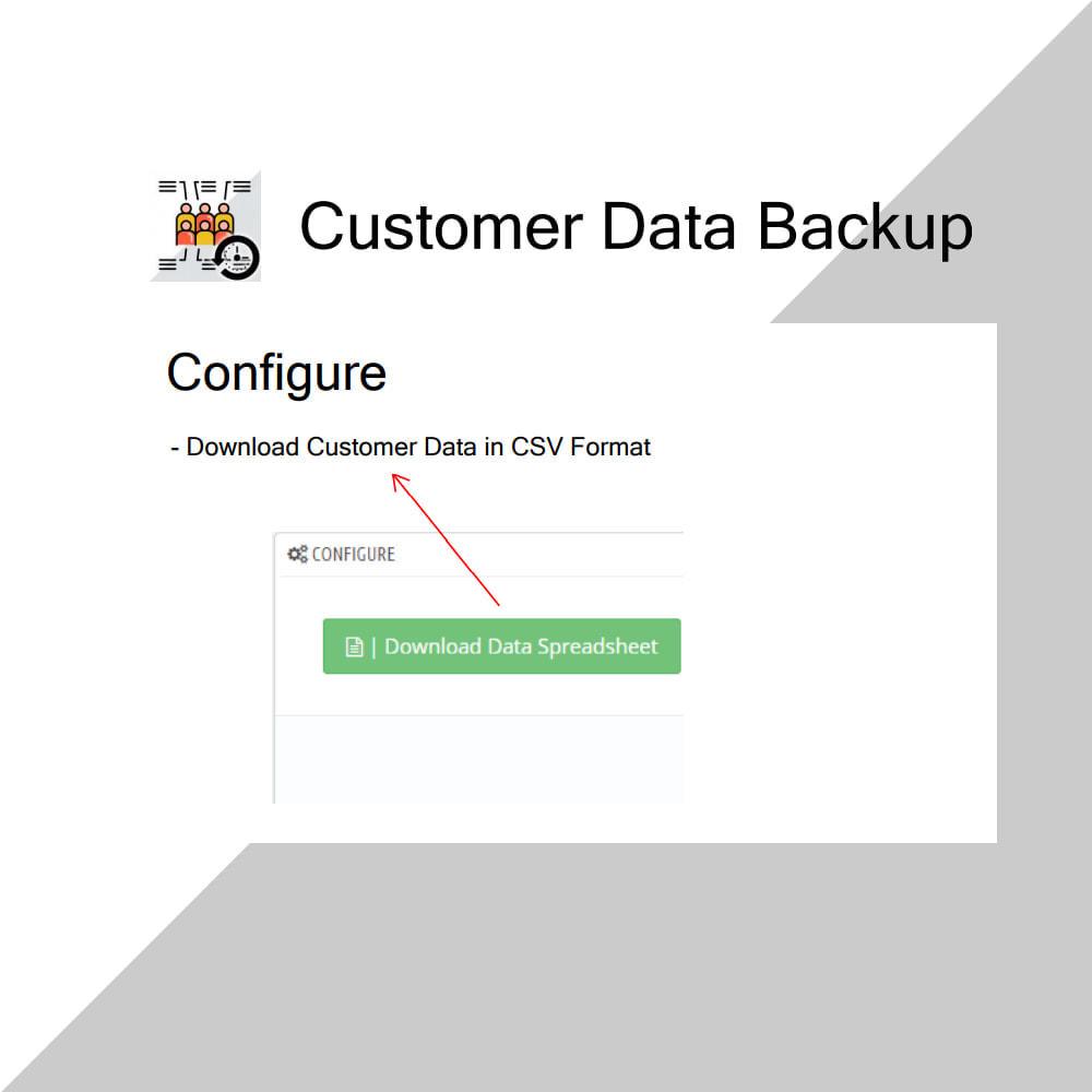 module - Data migration & Backup - Customer Data Backup - 3