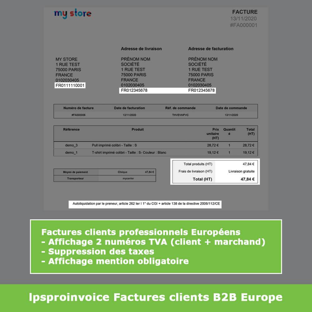 module - Comptabilité & Facturation - Facturation B2B - Suppression Taxes (sans TVA / HT) - 9