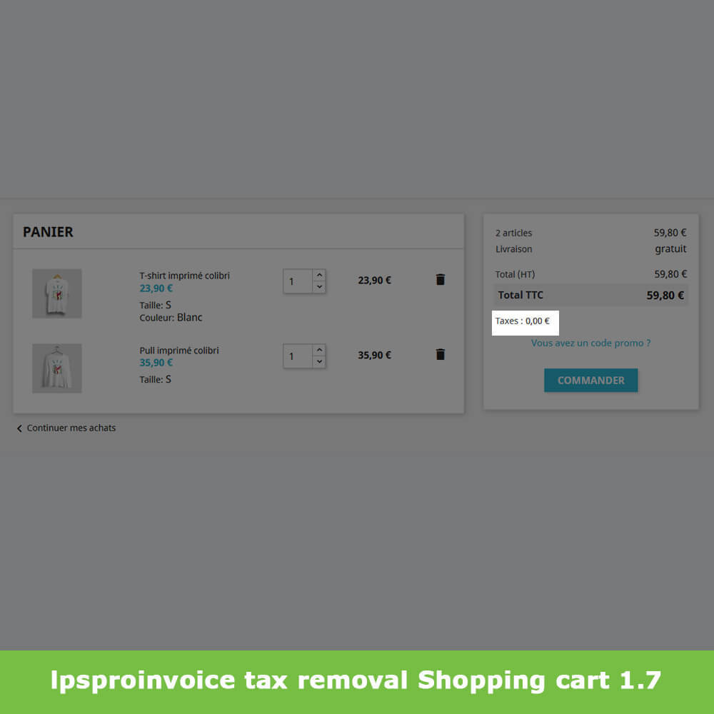 module - Accounting & Invoicing - B2B Invoicing - Remove Tax (without VAT / Tax excl) - 6