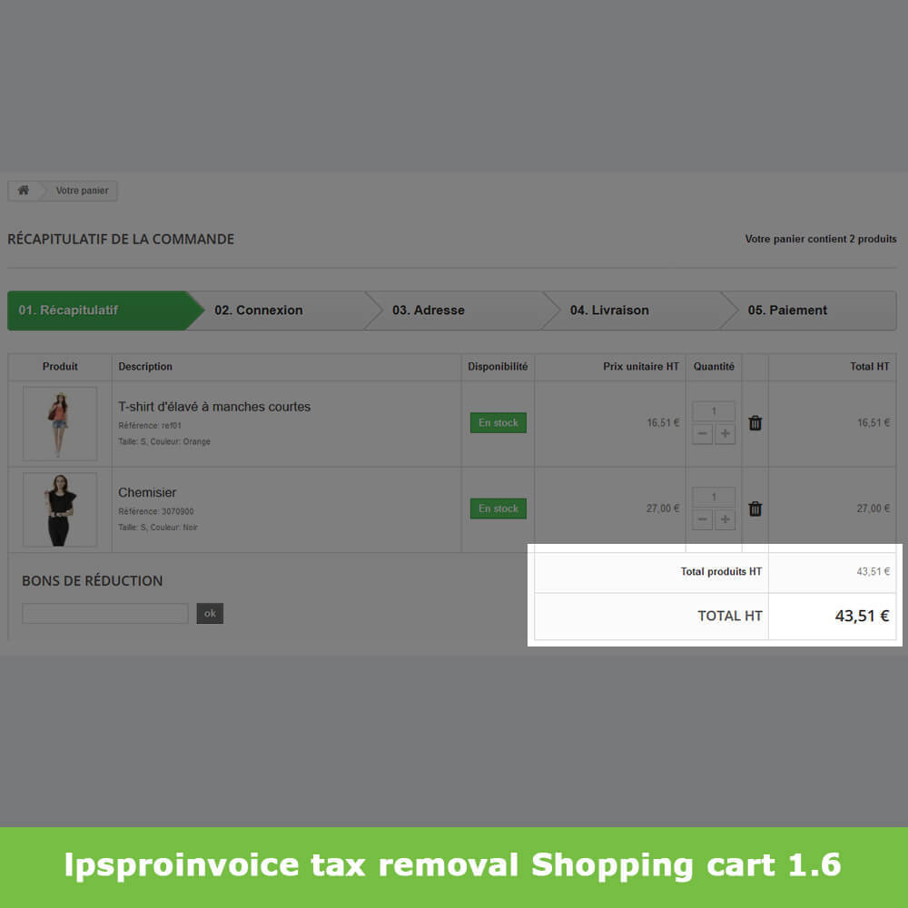 module - Accounting & Invoicing - B2B Invoicing - Remove Tax (without VAT / Tax excl) - 7