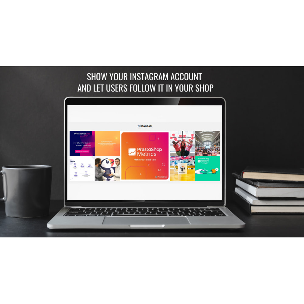 module - Produkten op Facebook & sociale netwerken - Insta Feed - instagram feed in your shop - 1