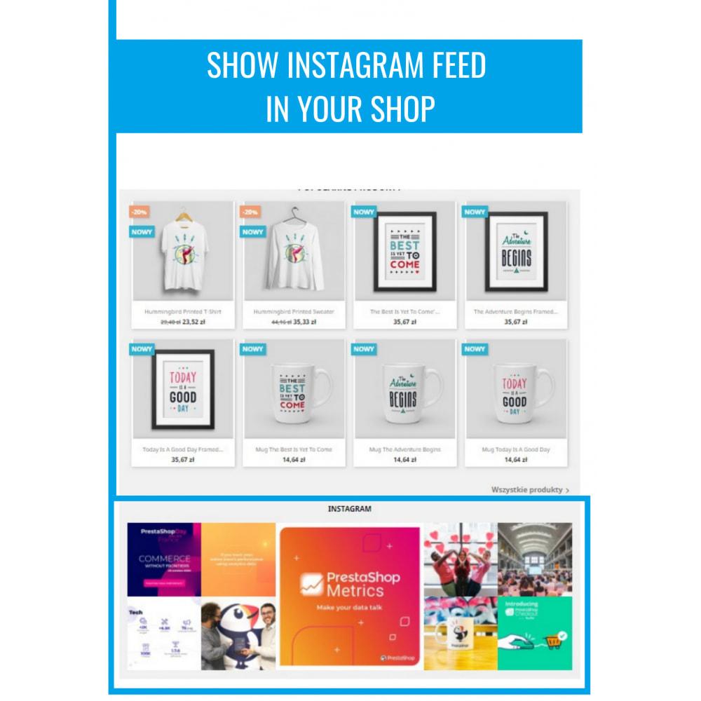 module - Produkten op Facebook & sociale netwerken - Insta Feed - instagram feed in your shop - 2