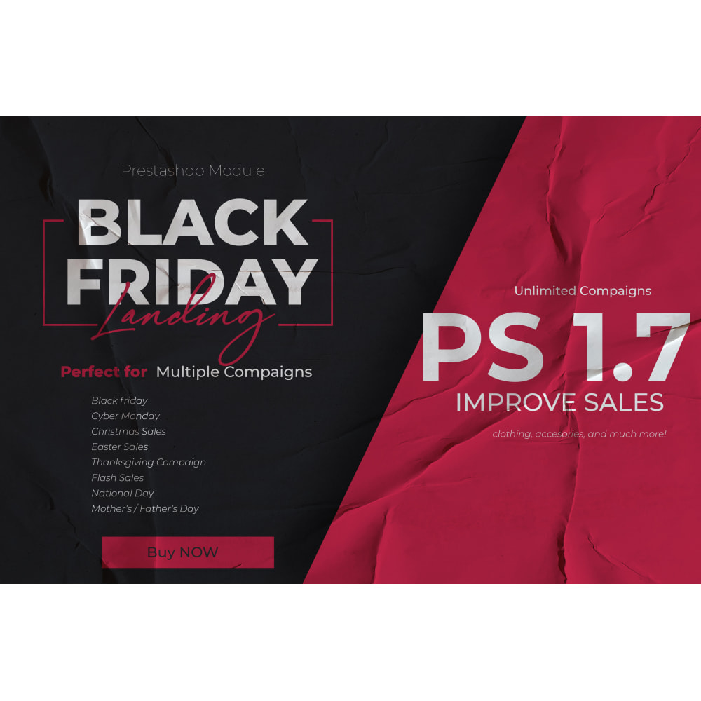 module - Закрытых и рекламных распродаж - Black Friday Landing Page - 1