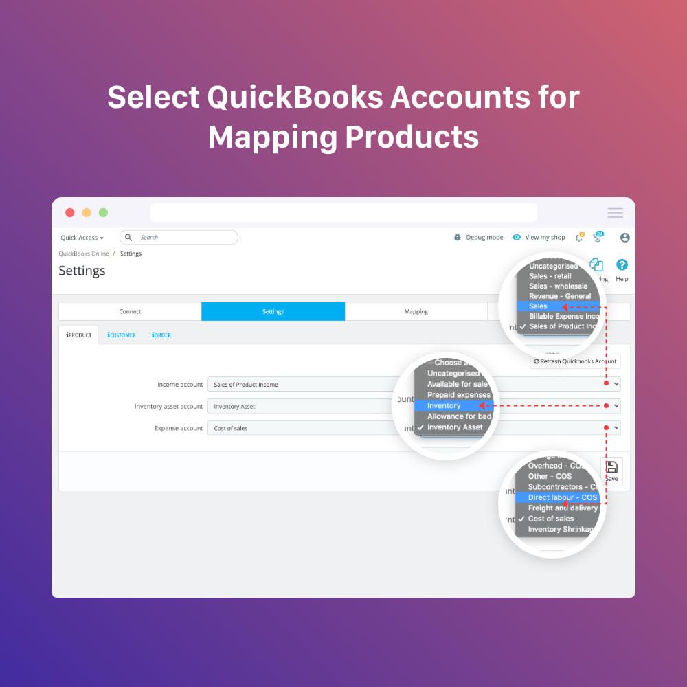 module - Connexion à un logiciel tiers (CRM, ERP...) - QuickBooks Connector PRO - Quickbooks Online Connector - 5