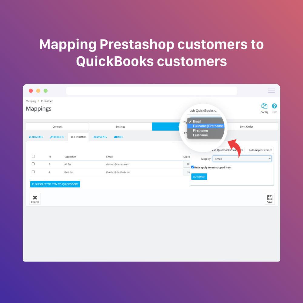 module - Connexion à un logiciel tiers (CRM, ERP...) - QuickBooks Connector PRO - Quickbooks Online Connector - 10