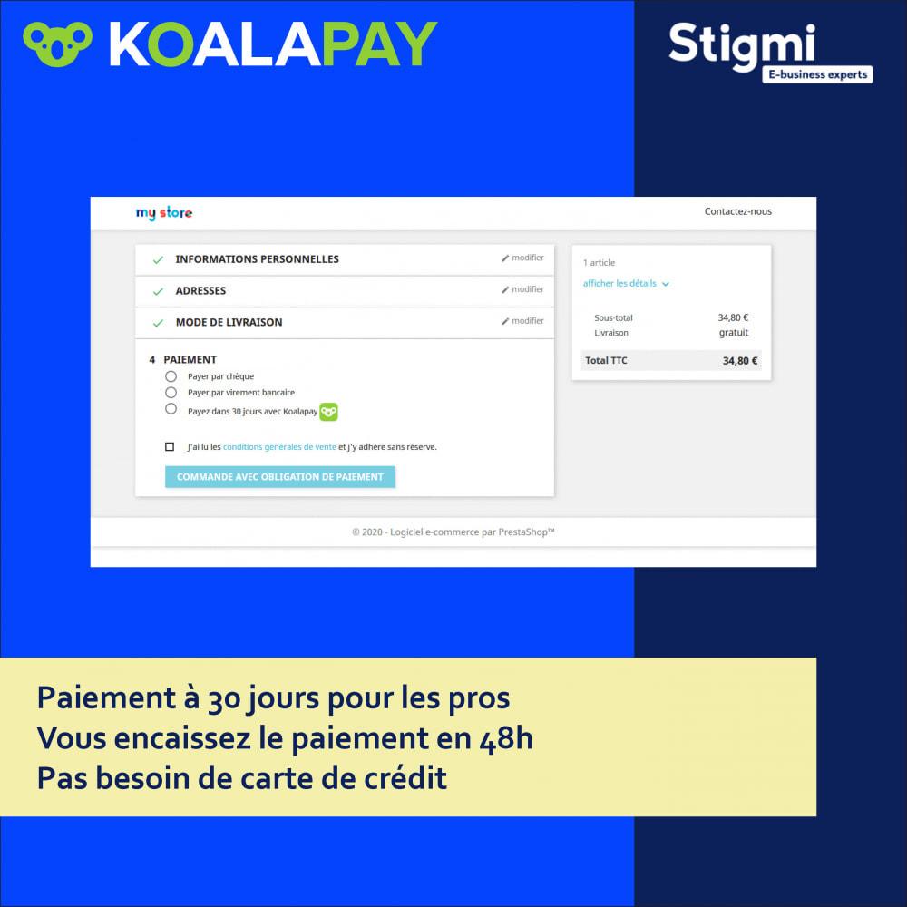 module - Paiement par Facture - KoalaPay – Paiement B2B à 30 jours & avance sur facture - 1