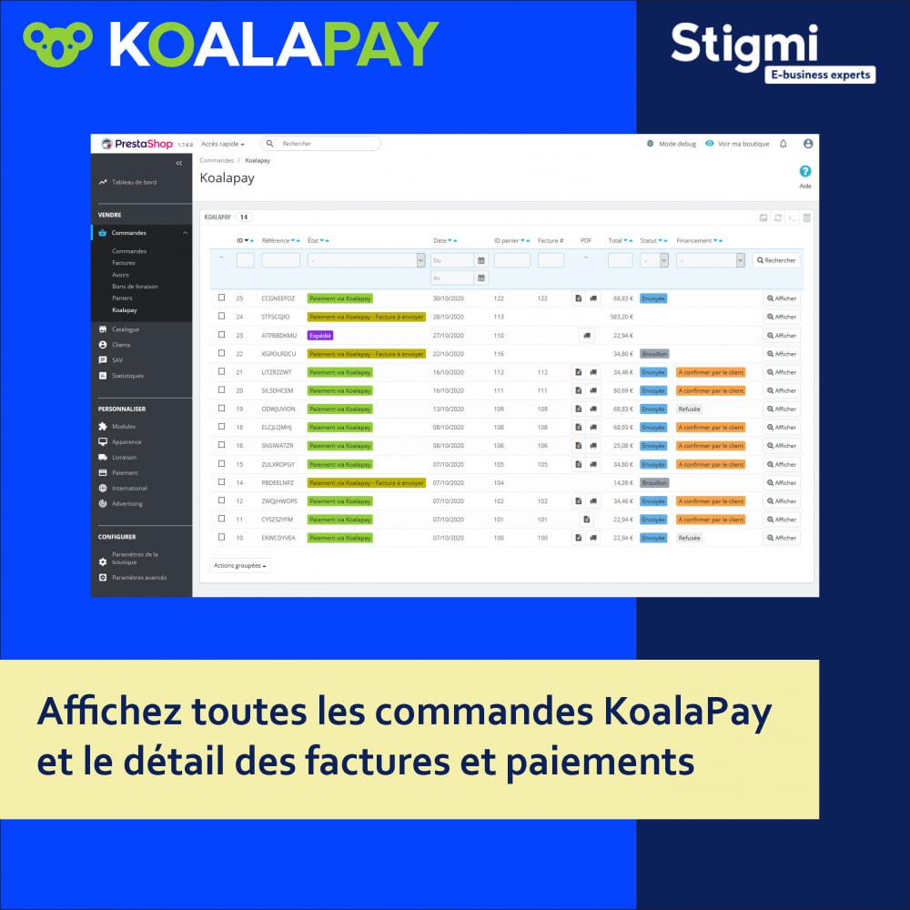 module - Paiement par Facture - KoalaPay – Paiement B2B à 30 jours & avance sur facture - 2