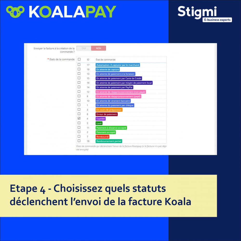 module - Paiement par Facture - KoalaPay – Paiement B2B à 30 jours & avance sur facture - 6