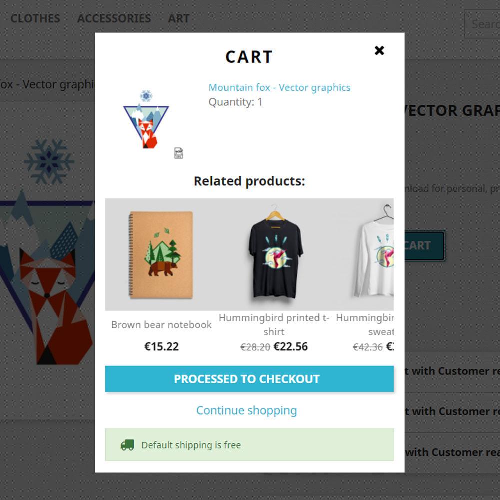 module - Procedury składania zamówień - Related products when added to cart - 2