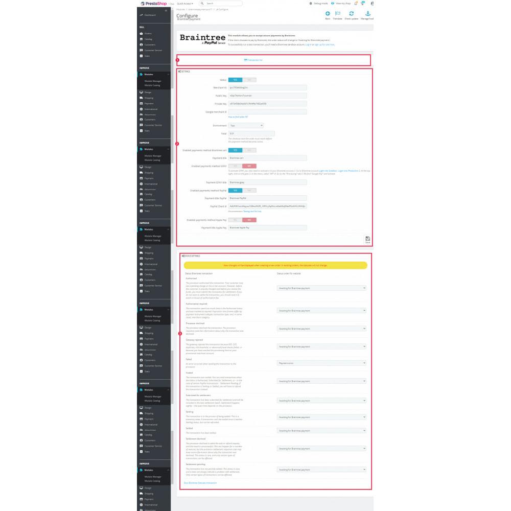 module - Pagamento por cartão ou por carteira - BrainTree Payment Gateway PRO (PayPal, Google Pay, etc) - 6