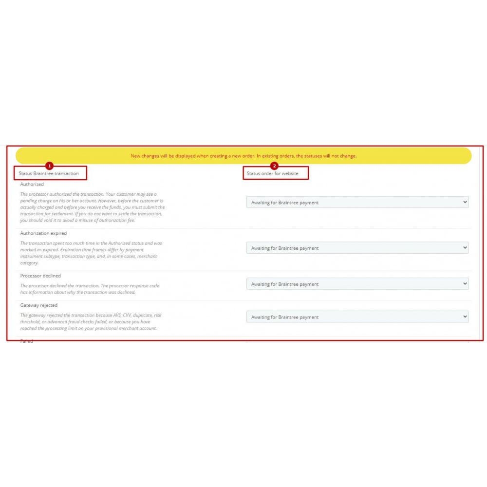 module - Pagamento por cartão ou por carteira - BrainTree Payment Gateway PRO (PayPal, Google Pay, etc) - 11