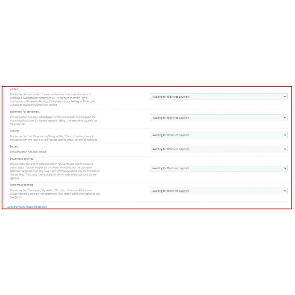 module - Pagamento por cartão ou por carteira - BrainTree Payment Gateway PRO (PayPal, Google Pay, etc) - 12