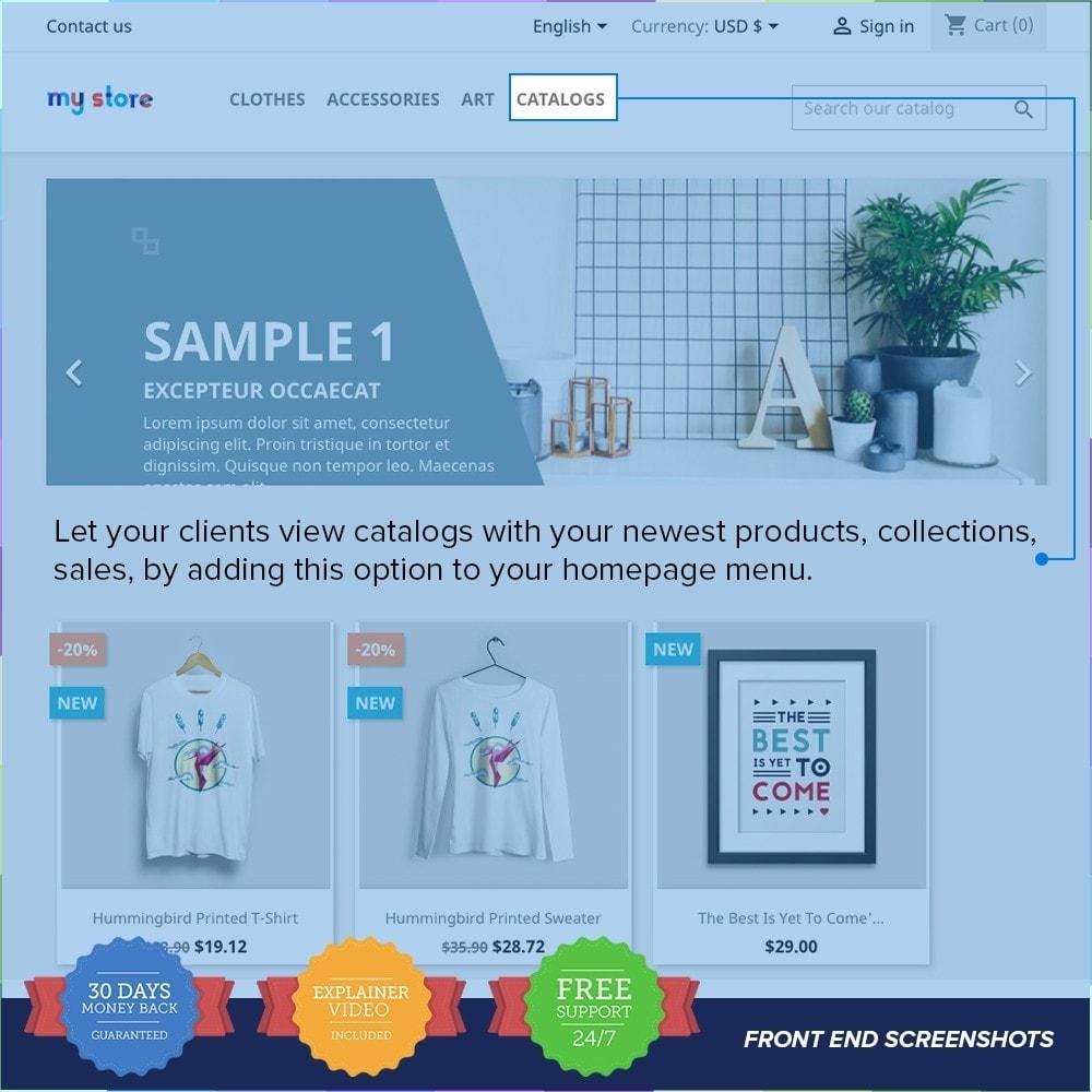 module - Information supplémentaire & Onglet produit - Catalogue PDF sur la page produit - 1