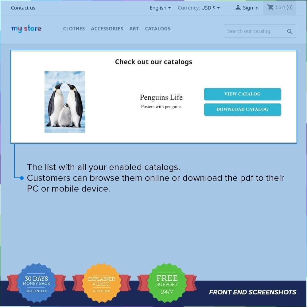 module - Informaciones adicionales y Pestañas - Catálogo PDF en la página del producto - 2