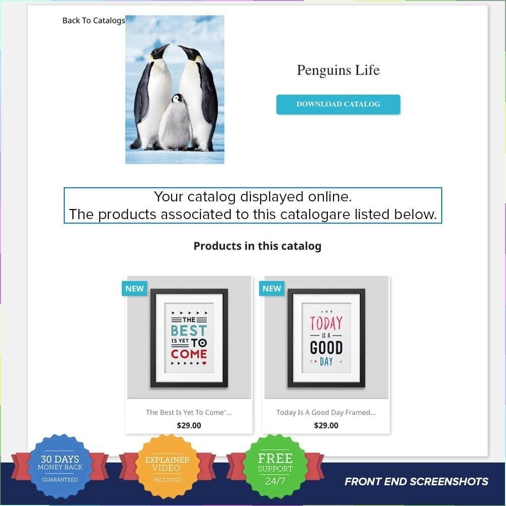 module - Informaciones adicionales y Pestañas - Catálogo PDF en la página del producto - 3