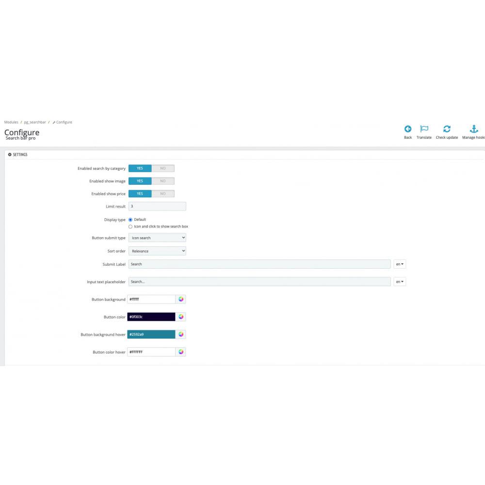 module - Wyszukiwanie & Filtry - Advance search by category - 2