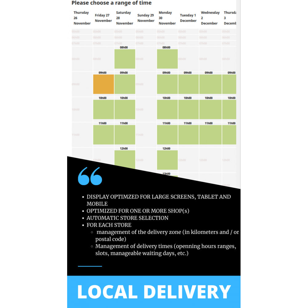module - Перевозчики - Local delivery scheduled by zip code - 1