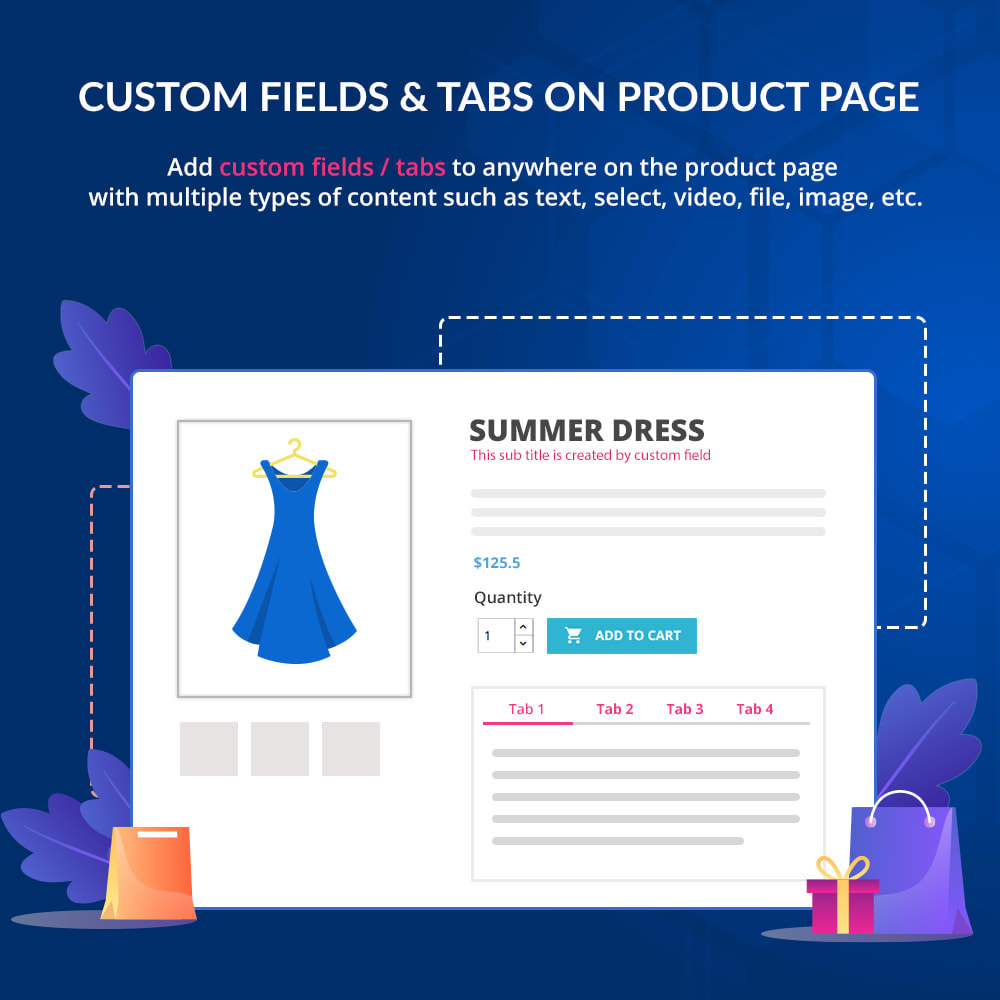 module - Bijkomende Informatie - Custom fields & tabs on product page - 1