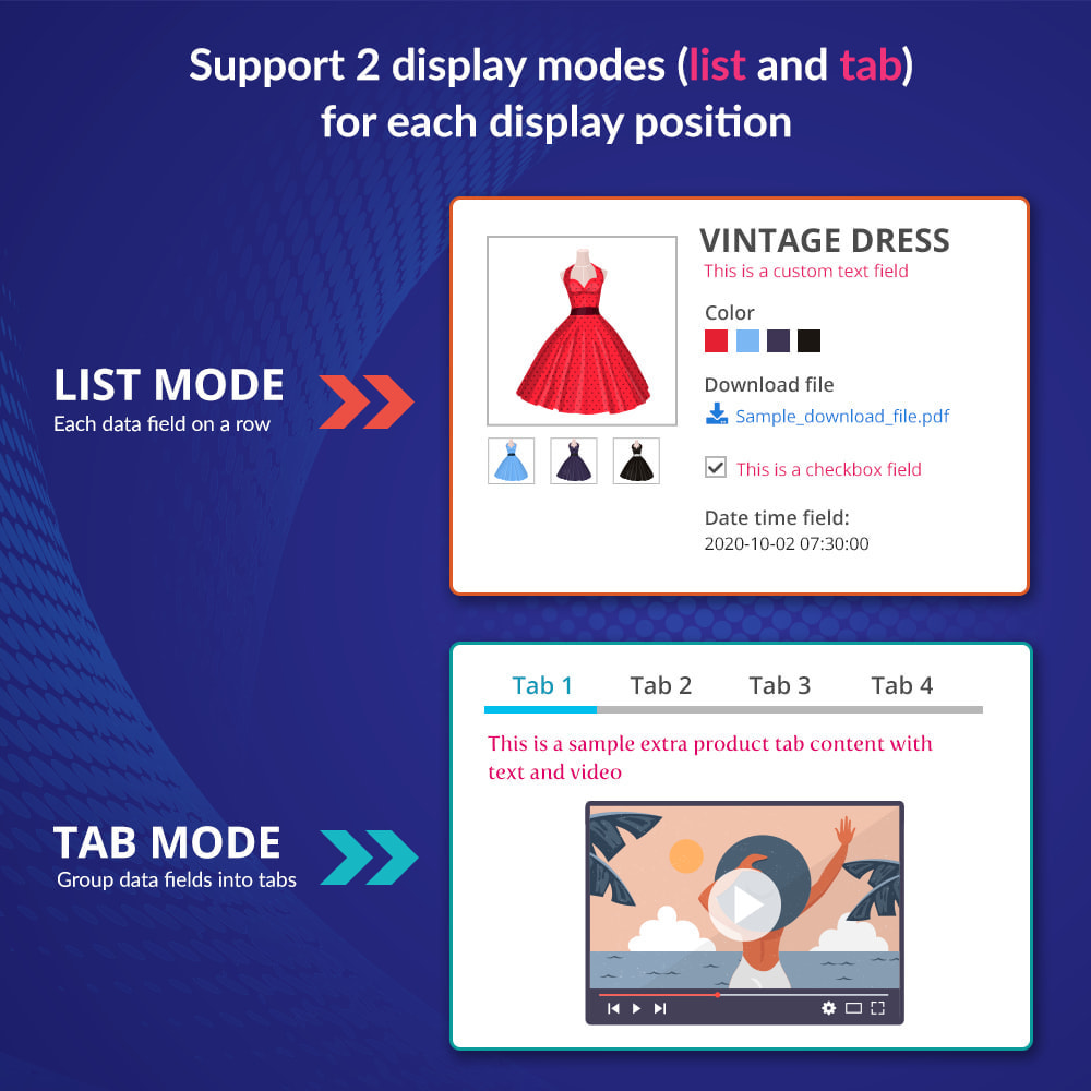 module - Bijkomende Informatie - Custom fields & tabs on product page - 3