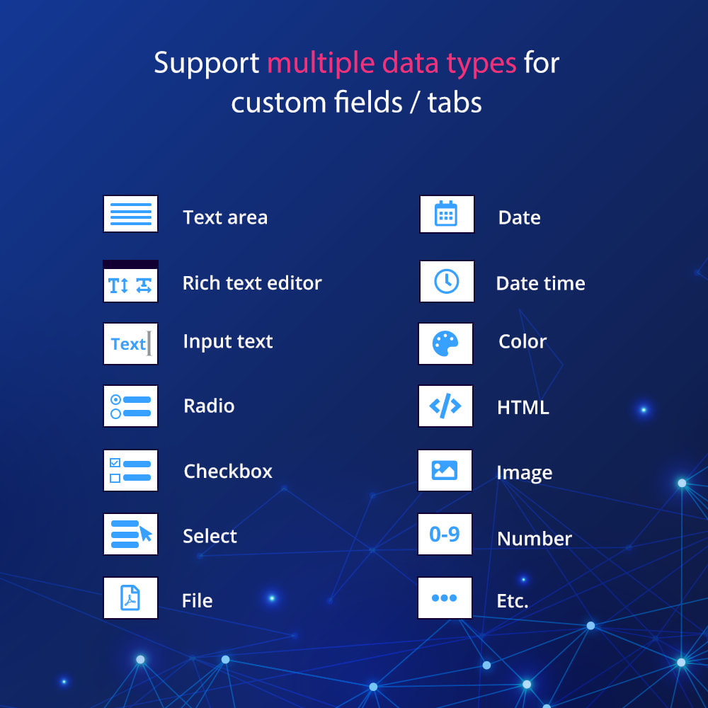 module - Bijkomende Informatie - Custom fields & tabs on product page - 4