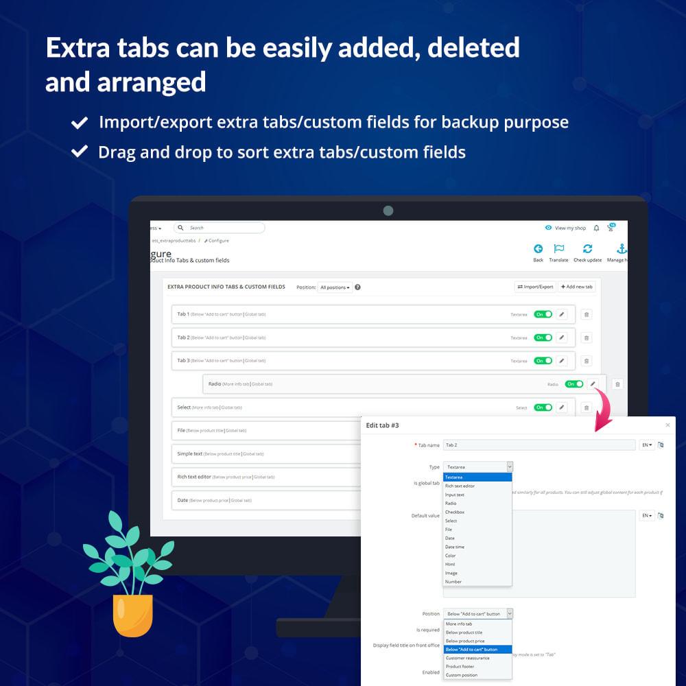 module - Bijkomende Informatie - Custom fields & tabs on product page - 6
