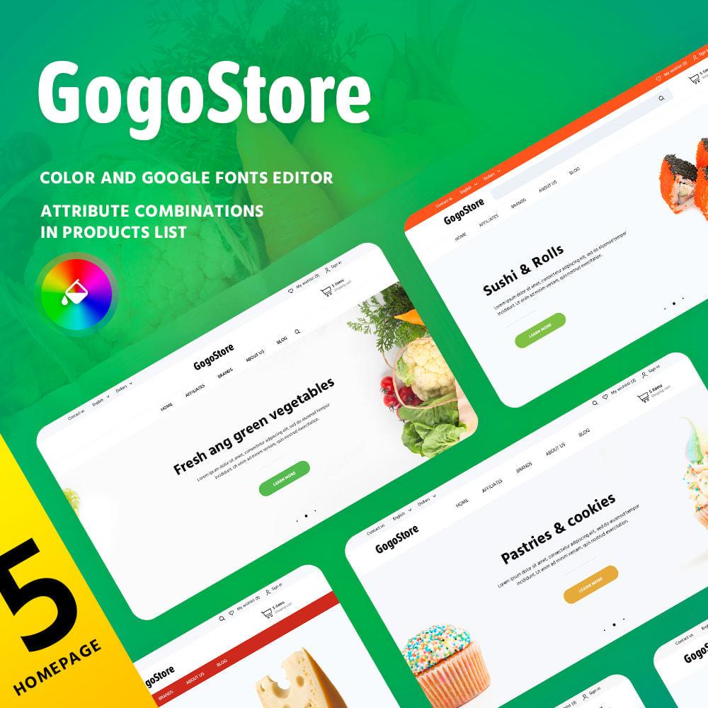 theme - Alimentation & Restauration - GogoStore - 1