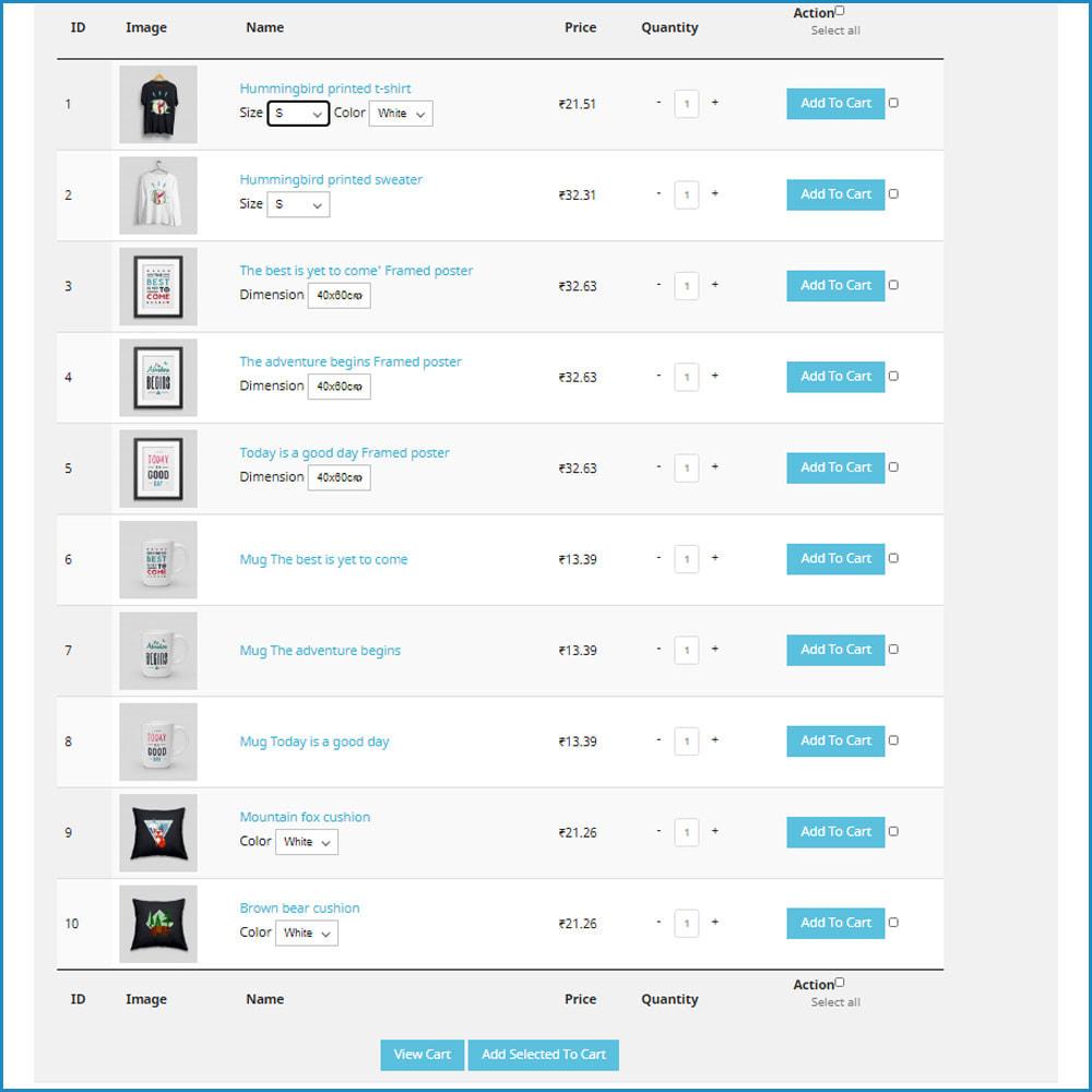 module - Inscription & Processus de commande - Quick Product Buy In one click - 2
