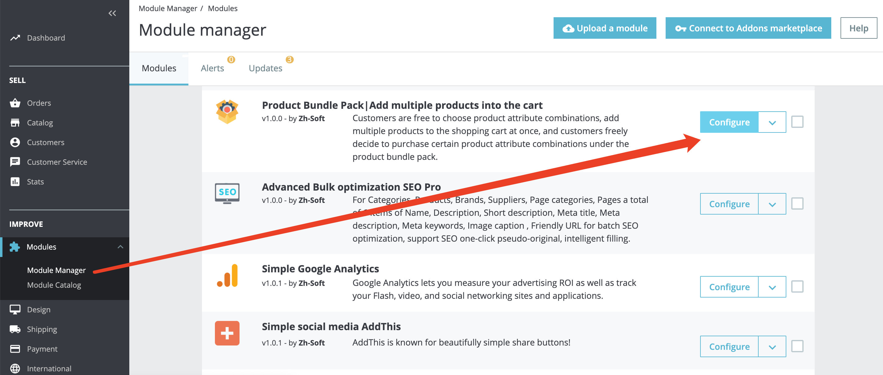 module - Combinations & Product Customization - Product Bundle Pack Add multiple products into the cart - 1