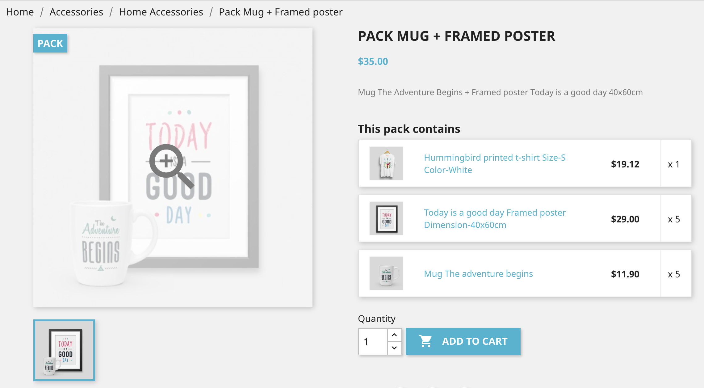 module - Combinations & Product Customization - Product Bundle Pack Add multiple products into the cart - 11