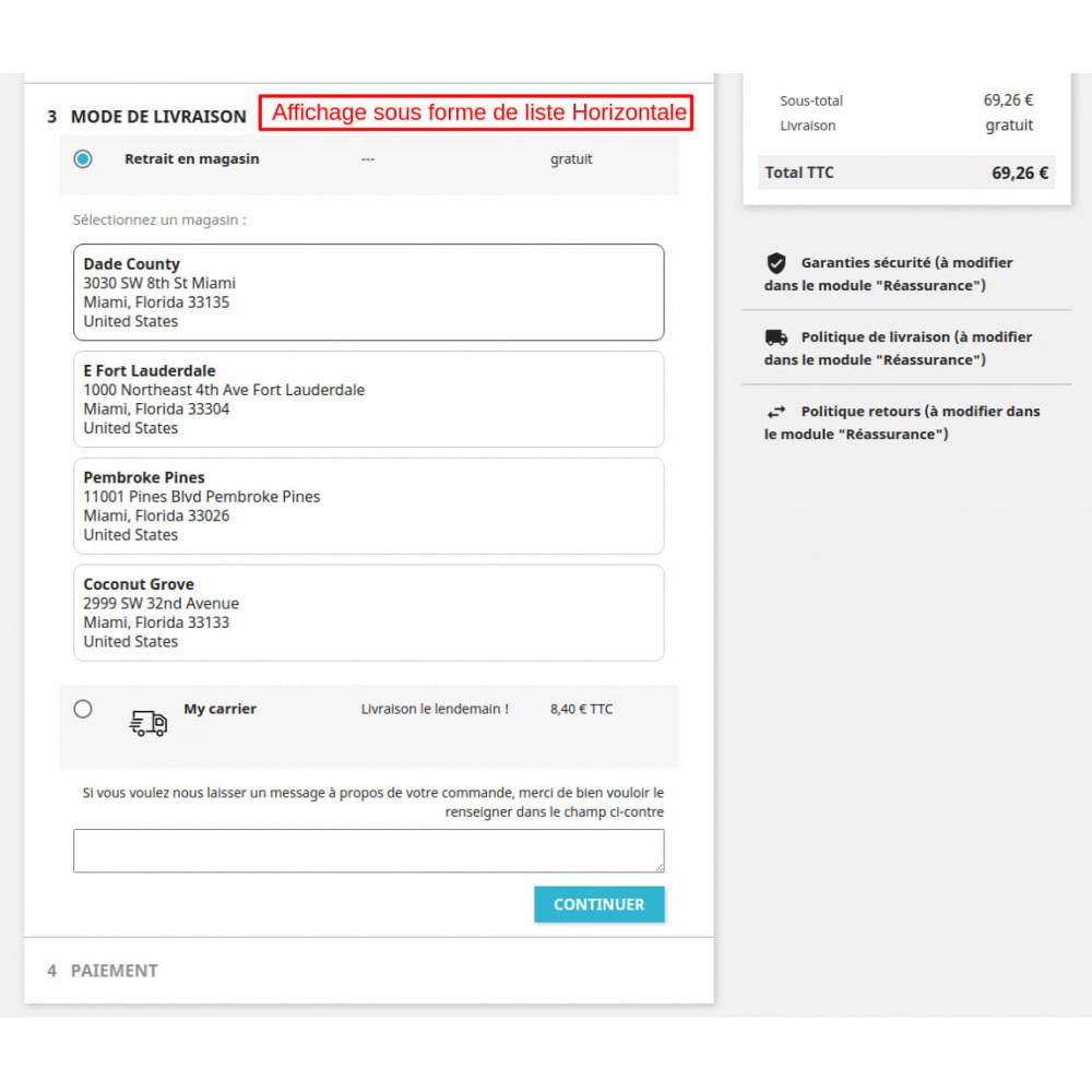 module - Point Relais & Retrait en Magasin - Retrait au magasin avec remplacement d'adresse - 3
