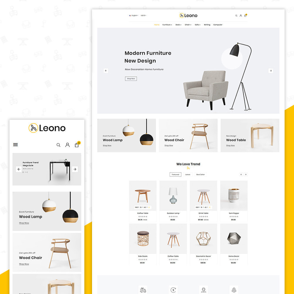 theme - Hogar y Jardín - Furni–Wood–Leono–Furniture Store - 1