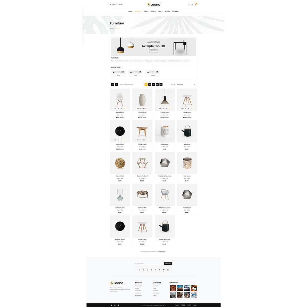 theme - Hogar y Jardín - Furni–Wood–Leono–Furniture Store - 3