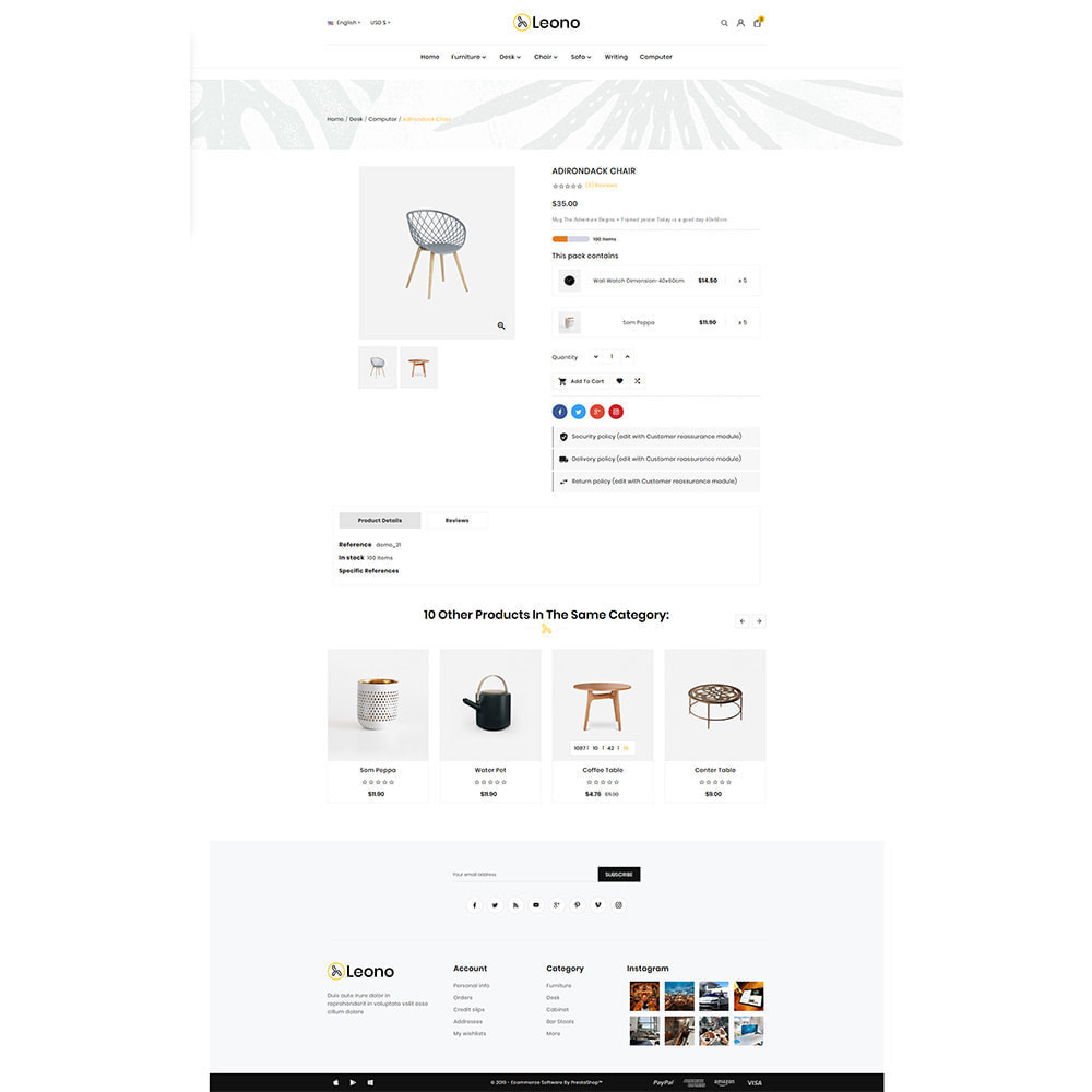 theme - Hogar y Jardín - Furni–Wood–Leono–Furniture Store - 4