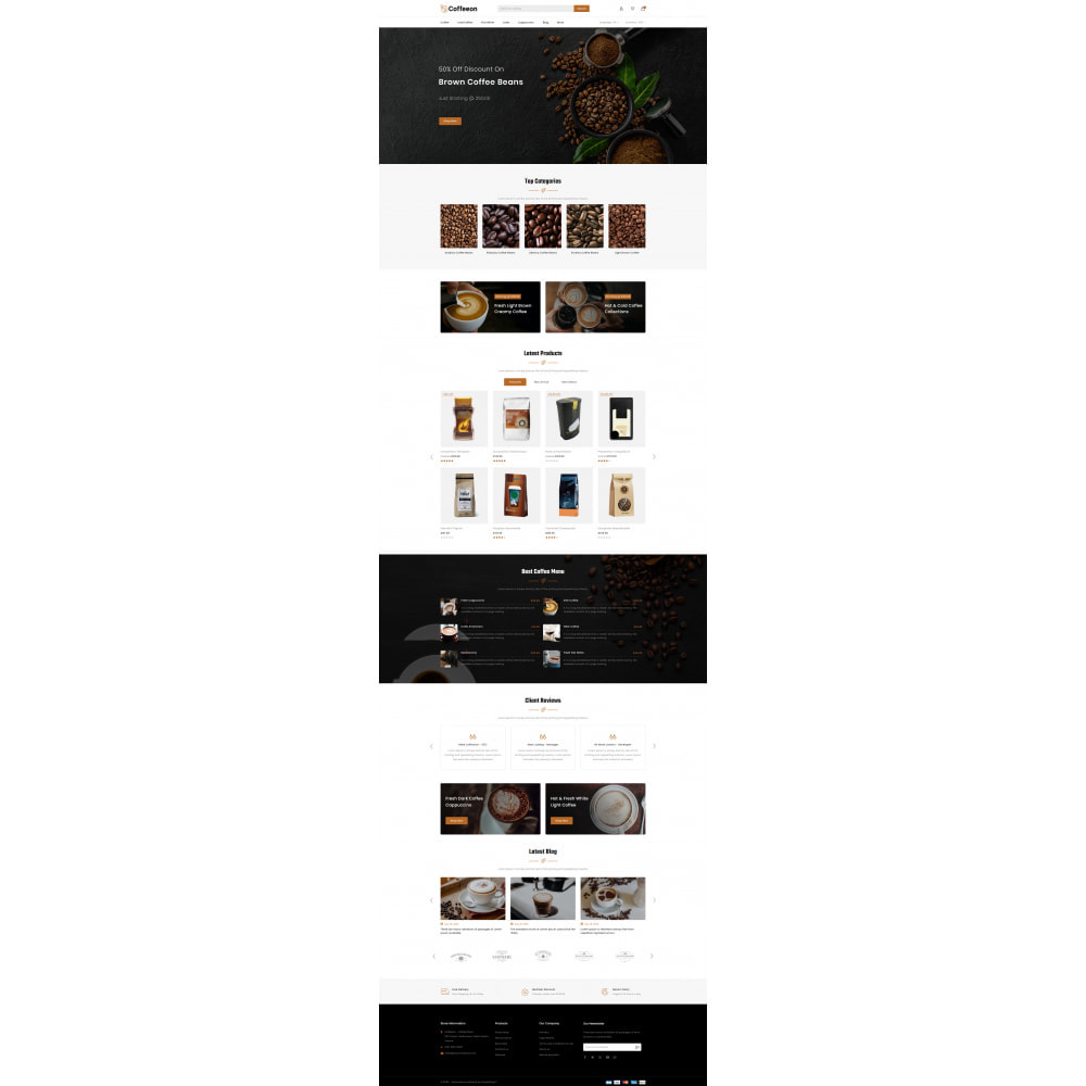 theme - Drink & Tobacco - Coffeeon - Coffee Store - 2