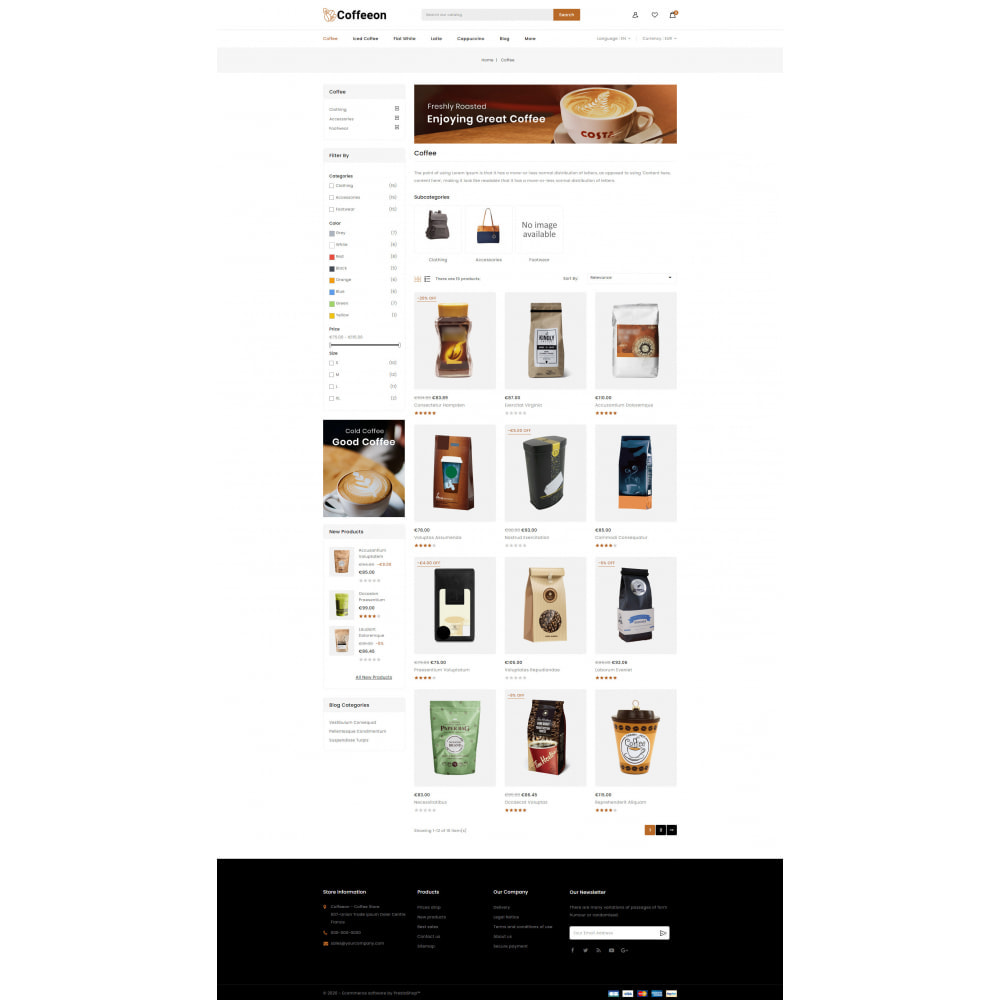 theme - Drink & Tobacco - Coffeeon - Coffee Store - 3
