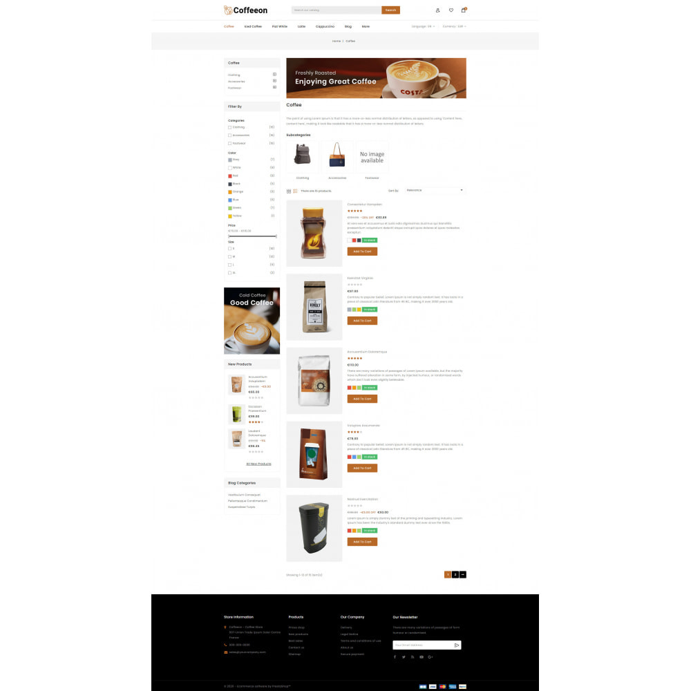 theme - Drink & Tobacco - Coffeeon - Coffee Store - 4