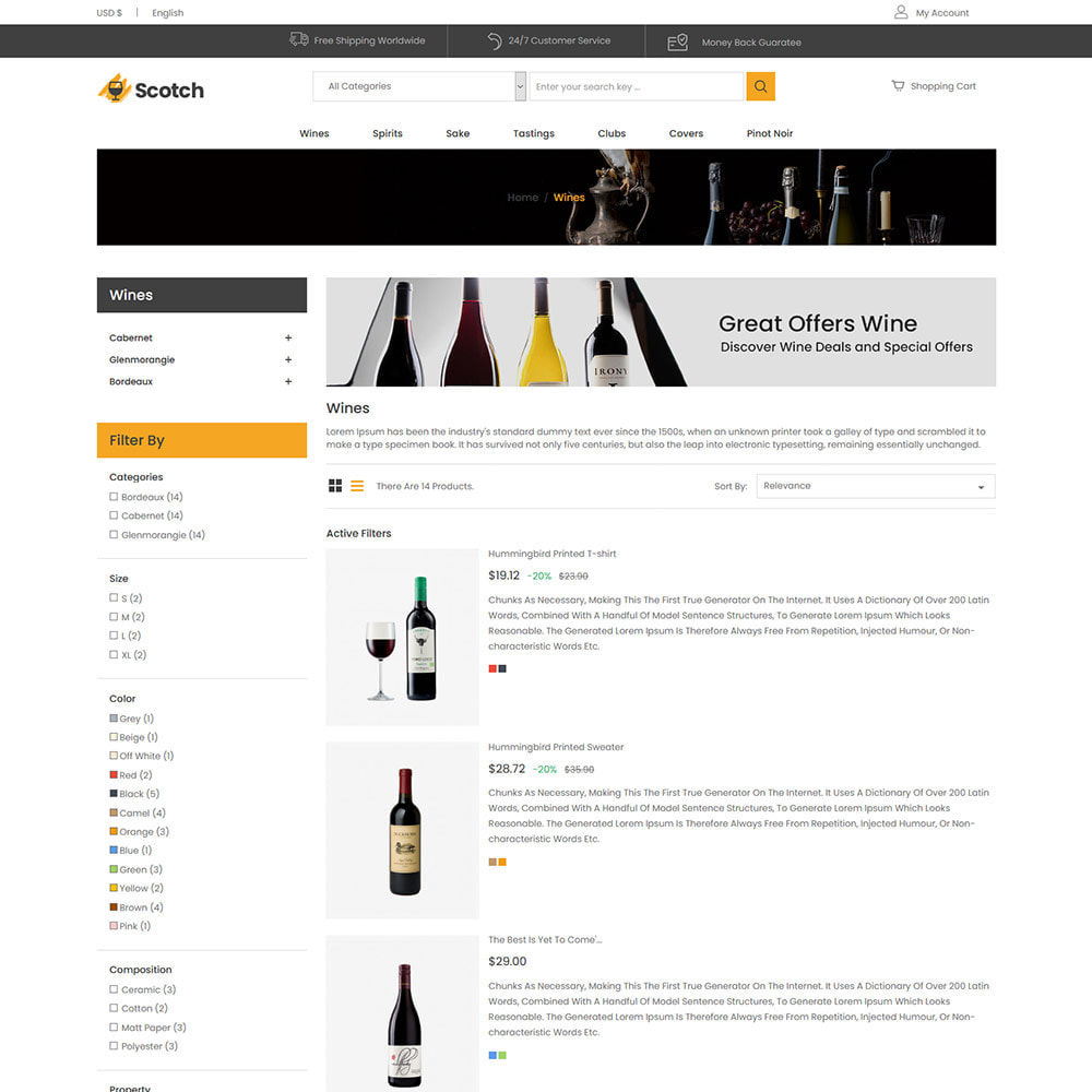 theme - Drank & Tabak - Scotch Wine -  Alcoholic drink Store - 4