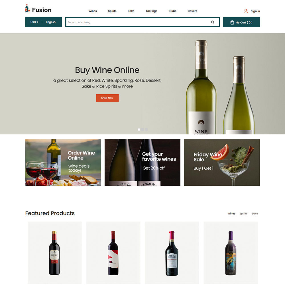 theme - Шаблоны PrestaShop - Fusion Wine - Computer Digital Drone Store - 2