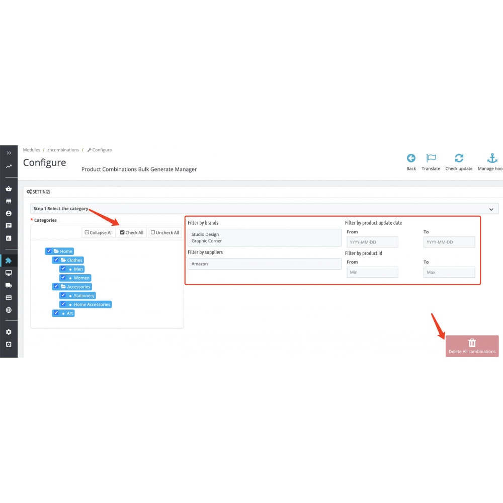 module - Combinations & Product Customization - Product Combinations Bulk Generate Manager - 1