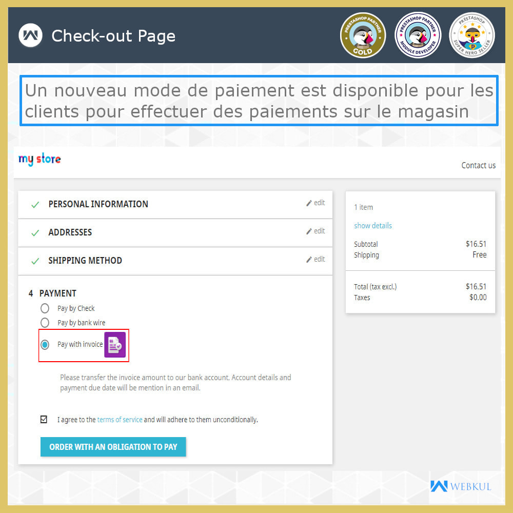 module - Paiement par Facture - Payer avec facture - 1