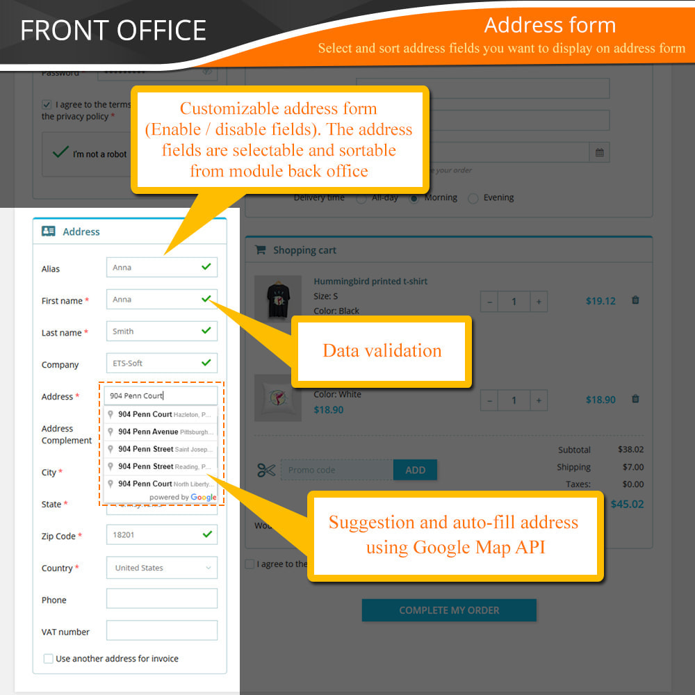 module - Express Checkout Prozesse - One Page Checkout - Fast, Intuitive & Professional - 7