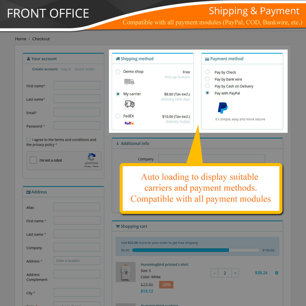 module - Express Checkout Prozesse - One Page Checkout - Fast, Intuitive & Professional - 8