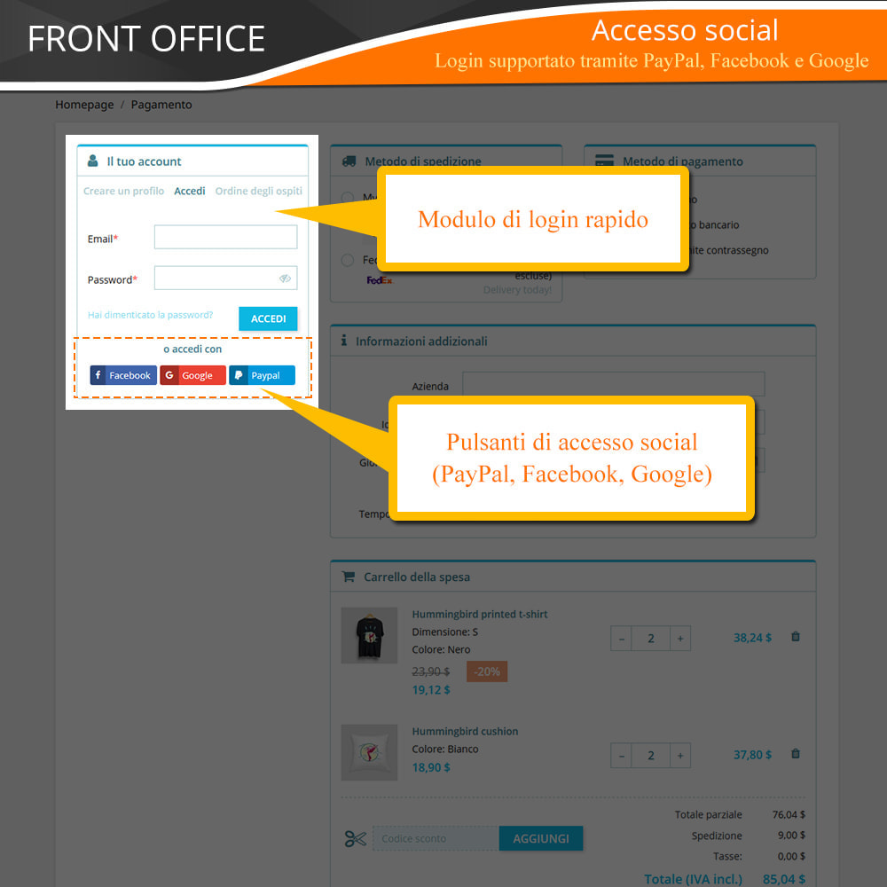 module - Express Checkout - ONE PAGE CHECKOUT - Veloce, Intuitivo & Professionale - 6