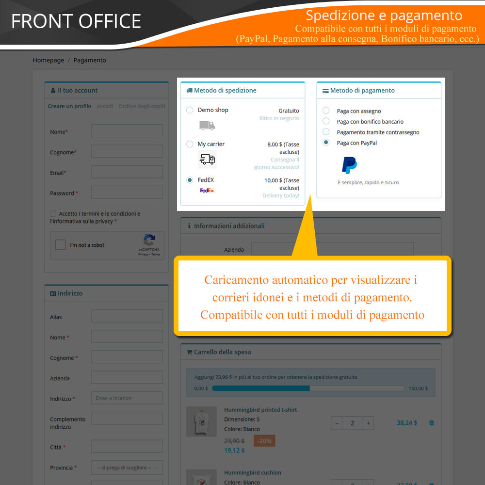 module - Express Checkout - ONE PAGE CHECKOUT - Veloce, Intuitivo & Professionale - 8