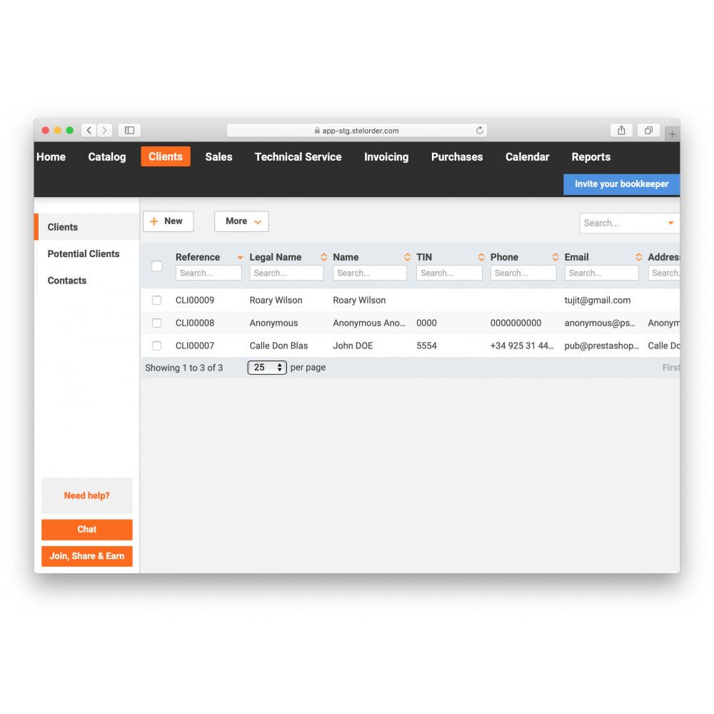 module - Connexion à un logiciel tiers (CRM, ERP...) - ERP Stel Order export - 2