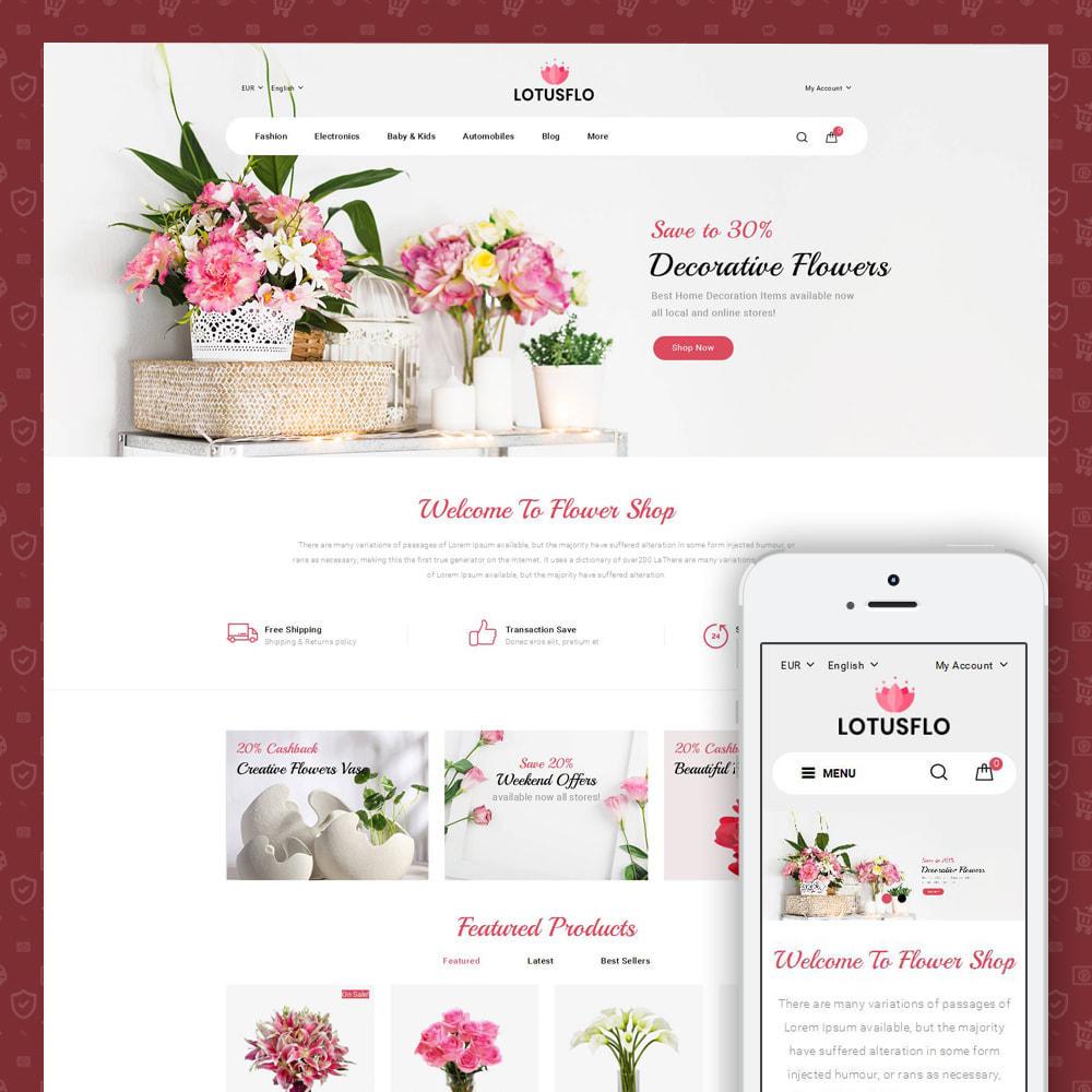 theme - Подарки, Цветы и праздничные товары - Lotusflow - Flowers Shop - 1