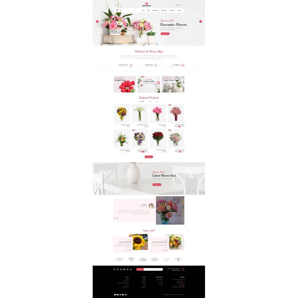 theme - Подарки, Цветы и праздничные товары - Lotusflow - Flowers Shop - 9
