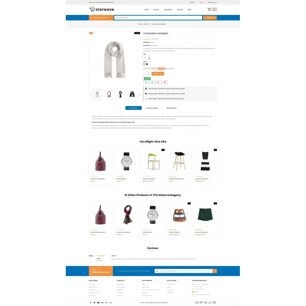 theme - Fashion & Shoes - Starwave - Multipurpose Store - 5